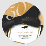 Customizable 50 Year Class Reunion Save the Date Stickers