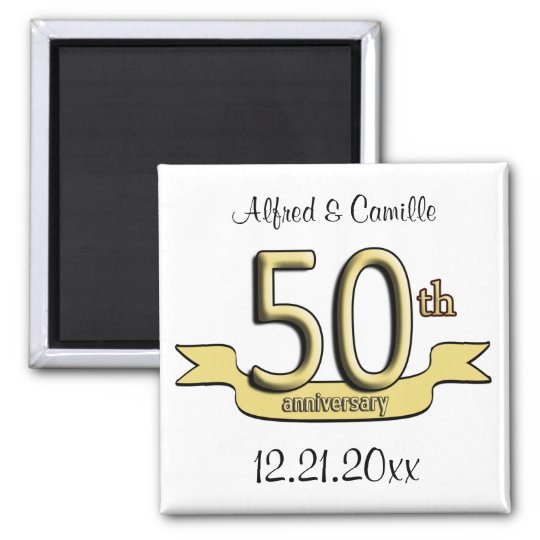 Customizable 50th Anniversary Party Favor Magnet