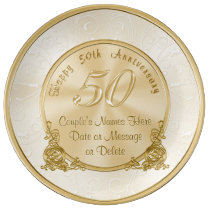 Customizable 50th Wedding Anniversary Gifts Plate