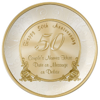 Wedding Anniversary Gifts For Parents Nz : Customizable 50th Wedding Anniversary Gifts Plate