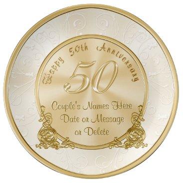 anniversarie Customizable 50th Wedding Anniversary Gifts Plate
