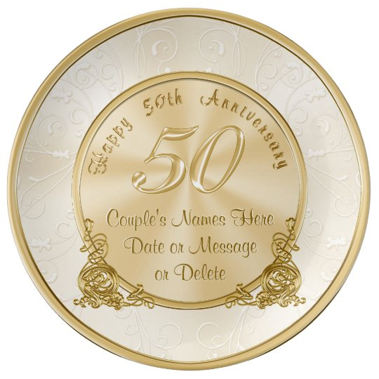 Customizable 50th wedding anniversary gifts plate for Best gifts for 50th wedding anniversary