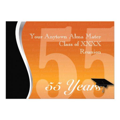 Customizable 55 Year Class Reunion Custom Invite