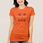 """Customizable 5 Apple Teacher T-Shirt<br><div class=""""desc"""">Are you a five apple VIPKID teacher?  Take the hassle out of getting dressed early in the morning when you get ready to teach online!  Just throw on this fun tshirt and you are all set!</div>"""