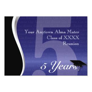 Customizable 5 Year Class Reunion Card