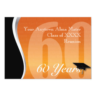 Customizable 60 Year Class Reunion Card