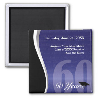 Customizable 60 Year Class Reunion 2 Inch Square Magnet