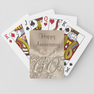Customizable 60th Anniversary Party Favors or Gift Playing Cards