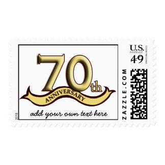 Customizable 70th Anniversary Postage
