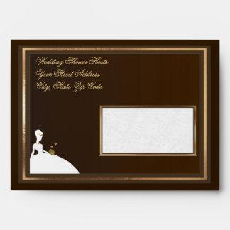 "Customizable 7¼""x 5¼"" Bridal Shower Envelope"