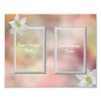 Customizable 8x10 picture frame insert photo print