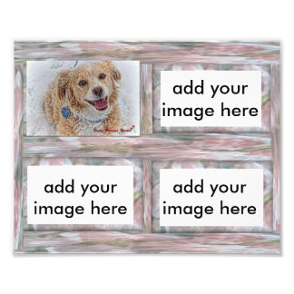 Customizable 8x10 pink rustic picture frame insert photo print