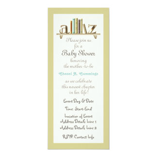 Customizable A-Z Baby Book Shower Invite