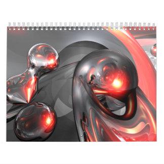 Customizable Abstract Art Calendar V3