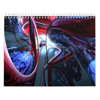 Customizable Abstract Art Calendar V7