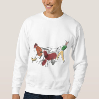 Customizable Abstract Art Dog Walker and Dogs Sweatshirt