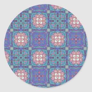 Customizable Abstract Art Gliftex Cards Classic Round Sticker
