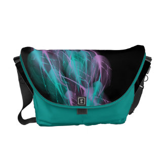 Customizable Abstract Feathers Rickshaw Commuter Bags
