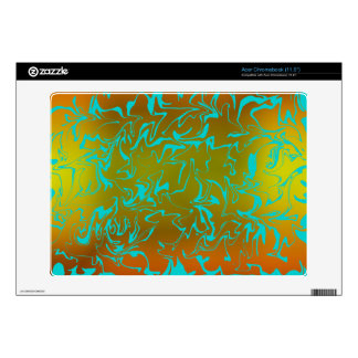 Customizable Abstract Golden Swirl Acer Chromebook Decals