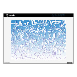Customizable Abstract Icy Swirl Acer Chromebook Skins