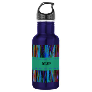 Customizable Abstract Stripes Design Stainless Steel Water Bottle