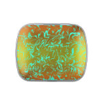 Customizable Abstract Swirl Jelly Belly Candy Tins