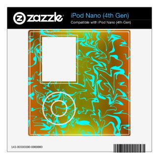 Customizable Abstract Swirl Skin For The iPod Nano 4G