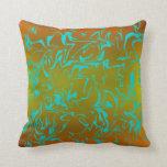 Customizable Abstract Swirl Throw Pillow