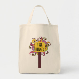 Customizable Abstract Tree Hugger Canvas Bags