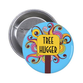 Customizable Abstract Tree Hugger Pinback Buttons