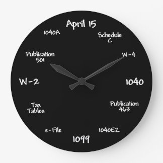 Customizable Accountant Clock - Tax Time Clock