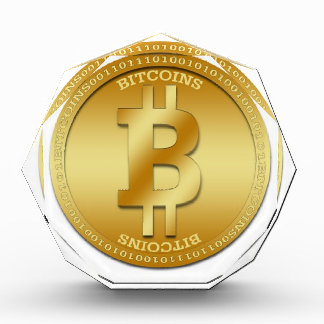 Customizable Acrylic Octagonal Award Bitcoin Image