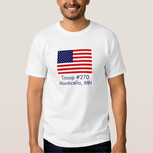 Customizable Adult Flag Troop Shirt