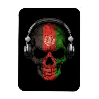 Customizable Afghan Dj Skull with Headphones Vinyl Magnet