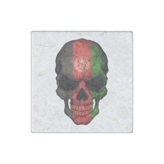 Customizable Afghan Flag Skull Stone Magnet