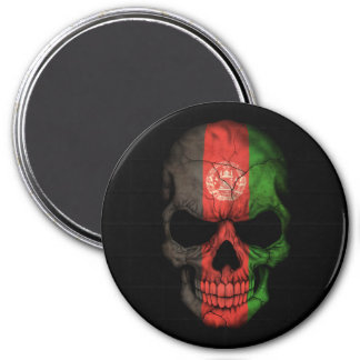 Customizable Afghan Flag Skull Refrigerator Magnet