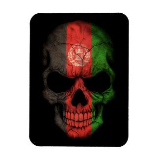 Customizable Afghan Flag Skull Vinyl Magnet