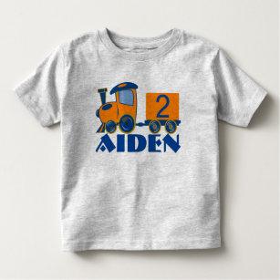 Customizable Age Birthday Train Toddler T Shirt