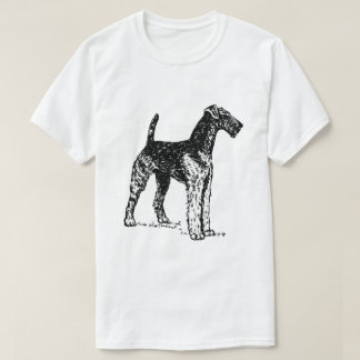 Customizable Airedale dog vintage drawing t-shirt