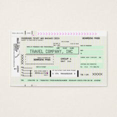Customizable Airline Boarding Pass Business Card at Zazzle