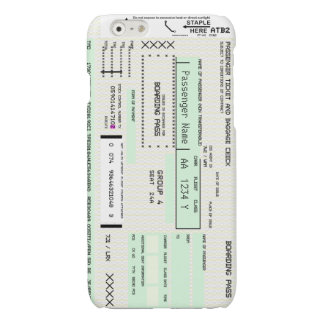 Customizable Airline Boarding Pass Glossy iPhone 6 Case
