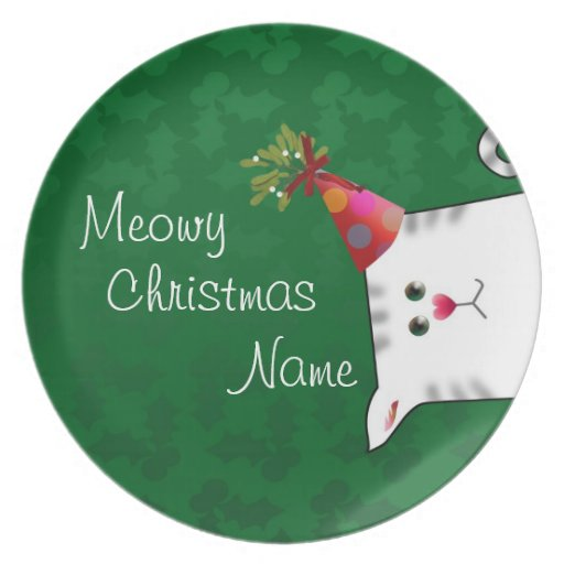 Customizable: Alfie Christmas holly Party Plate