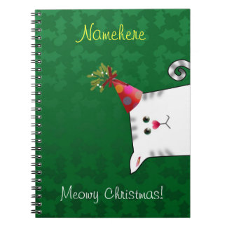 Customizable: Alfie Christmas holly Spiral Notebook