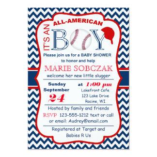 Customizable All Amer Bball Baby Shower Invitation