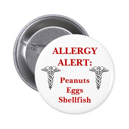 Customizable allergy button