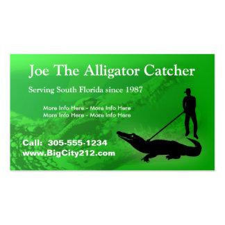 CUSTOMIZABLE Alligator Catcher BC Business Card Templates