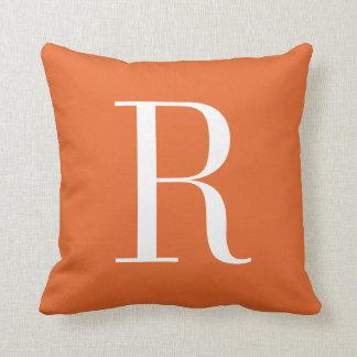 Customizable Alphabet Monogram Pillow - Orange