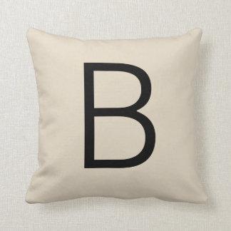 Customizable Alphabet Monogram Pillow - Tan