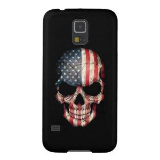 Customizable American Flag Skull Galaxy S5 Cover
