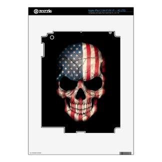 Customizable American Flag Skull Skin For iPad 3
